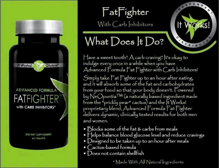 It Works! Fat Fighters work... Http://stephcoffman.myitworks.com