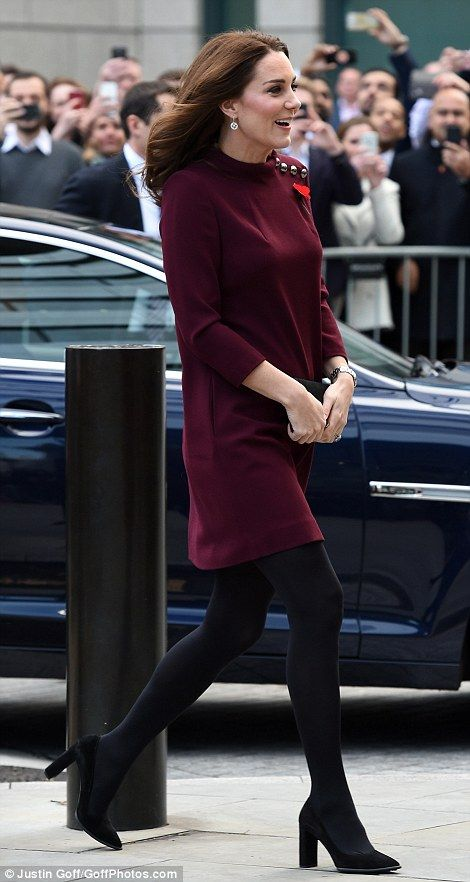 Kate looked in great spirits as she arrived at the event, proving the worst of her battle ...