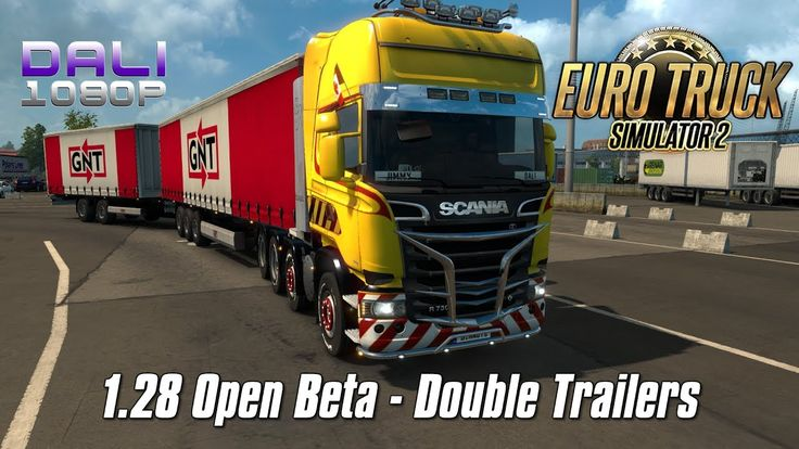 ETS 2 Update v1.28 Open Beta MAIN FEATURES: -Doubles -Background screen options -Changed light flares on the player and AI vehicles #ETS2 #SCSsoftware #DoubleTrailers #trucksim #Steam #YouTube