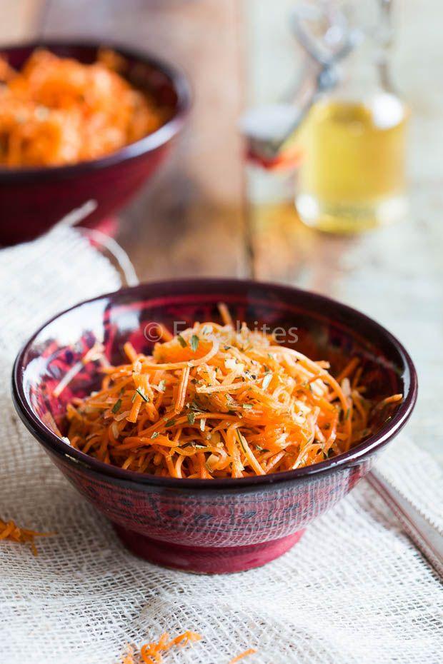 Als je een etentje organiseert is het wel fijn als er ook iets groens (of iets oranjes in het geval van deze wortelsalade) bij is !
