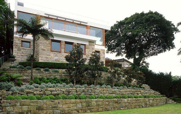 vorgartengestaltung terrassenf rmig platzierte pflanzen