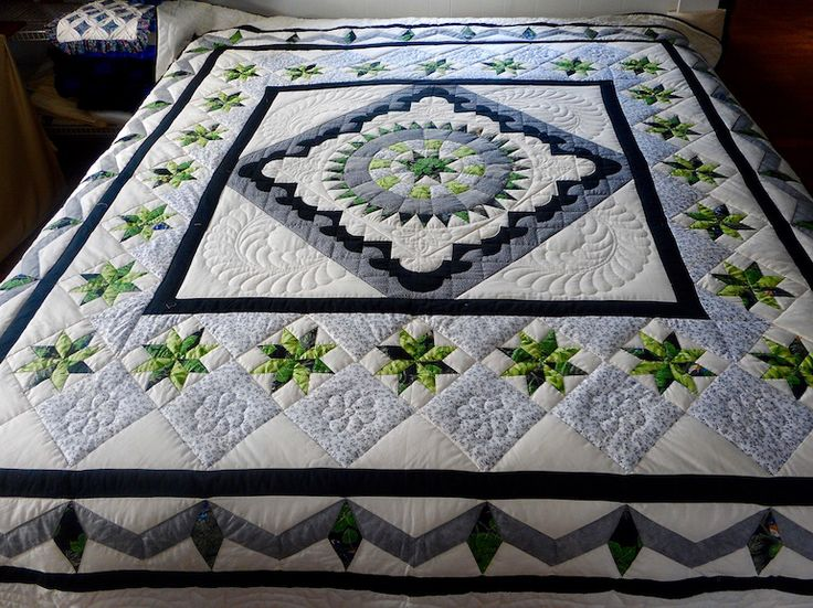 28 best Amish Star Pattern Quilts images on Pinterest | Hand ... : best batting for hand quilting - Adamdwight.com