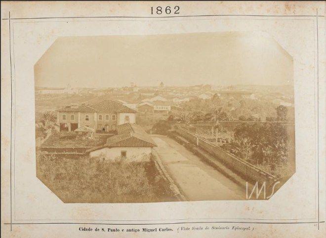 Vista da Região Central da Cidade em 1862.