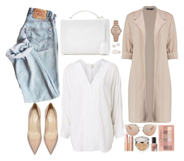 """""""Casual look! (Clean and Organized sets) - Contest!"""" by asia-12 ❤ liked on Polyvore featuring Boohoo, Witchery, Mark Cross, Christian Dior, Burberry, Kate Spade, Maybelline and Bobbi Brown Cosmetics"""
