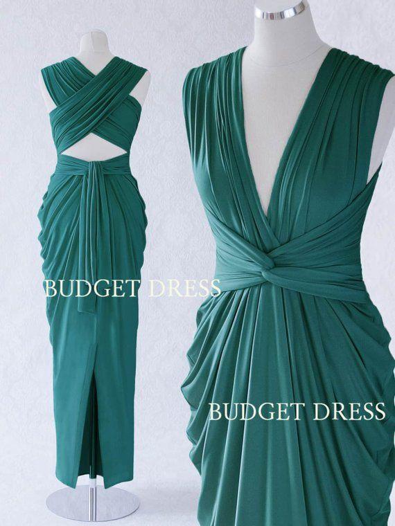 Teal Green Convertible Bridesmaid Dress 17ed4de46aaa