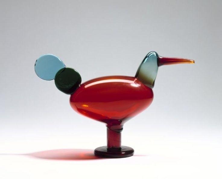 Oiva Toikka, Iittala, Nuutajärvi, Finland. Glass Bird.