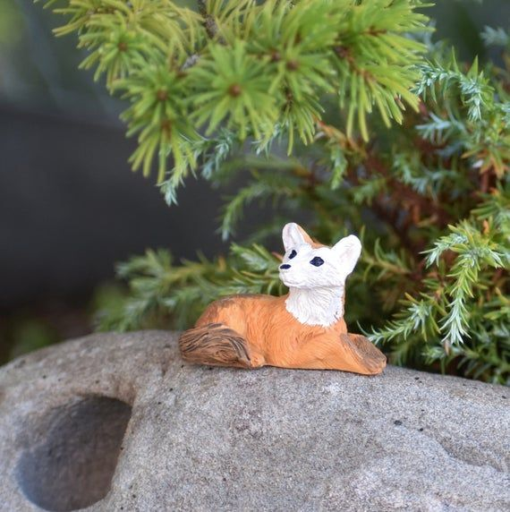 Tiny Miniature Fox Figurine / Fairy Garden Animals / Mini Forest Wildlife / Fairy Garden Accessories – Products