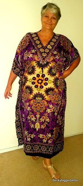 Purple colour Long Caftan Sundress Resort wear One Plus Size 18 20 22 +