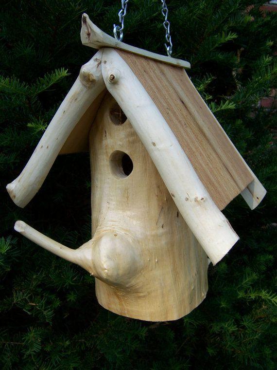 Chickadee Log Birdhouse Quot The Jonathan Quot The O Jays