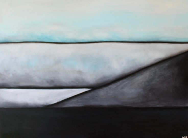 leannearohamulderart Westcoast #1 From KareKare Series Acrylic, charcoal on canvas 76 cm high x 102 cm wide #Newzealand #westcoast #karekare #wildwest #seascapes #landscapes #paintings #art #artists #illustrations