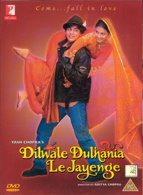 Dilwale Dulhania Le Jayenge (1995)  Dilwale Dulhania Le Jayenge, also known as DDLJ, is a 1995 Indian romantic comedy musical film. It was written and directed by Aditya Chopra, produced by his father Yash Chopra, and stars Shahrukh Khan and Kajol.