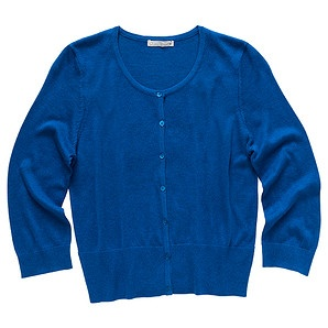 DYT Type 4 Top: 3/4 Cropped Crew Neck Cardigan - Blue (Target)