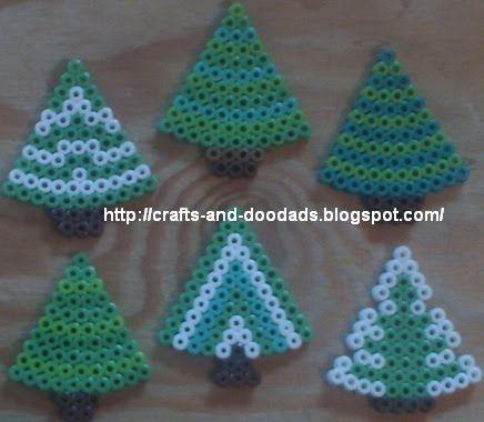 Trees hama perler beads - Leah's crafts and doodads