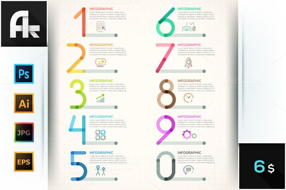 Modern Infographics Outline Numbers by AndrewKras on Creative - presentation outline templates