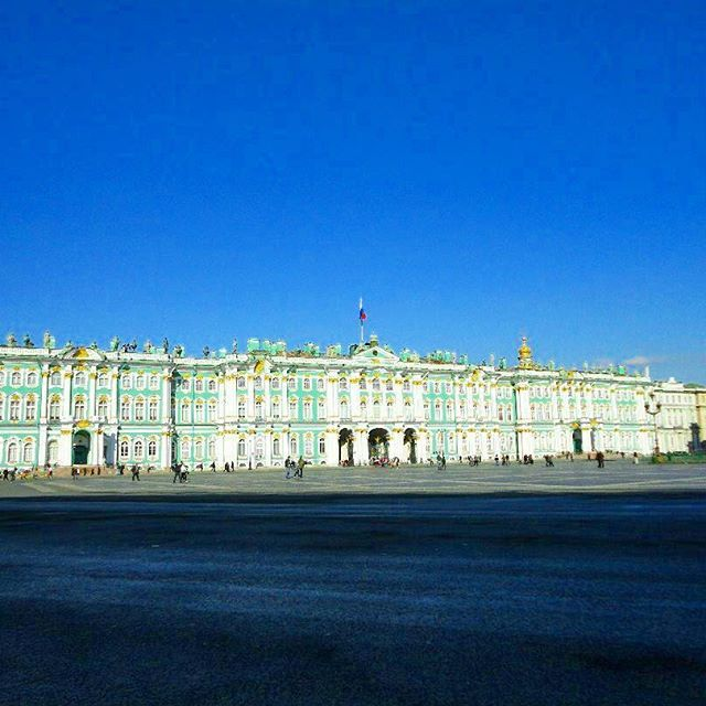 """""""This sparkling diamond on Russia's crown is a demonstration of Peter's determination of gaining a prominent position in Europe."""" (#linkinbio) #russia #europe #position #determination #sparkling #crown #bluesky #stpetersburg #blog #winterpalace #hermitage #museum #palace"""