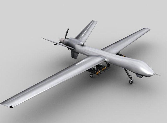3D Model MQ 9 UAV Predator Drone C4d Obj 3ds Fbx Ma