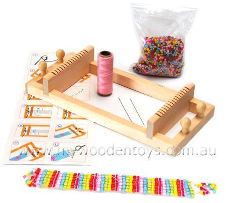 Wooden Bead Loom Bracelet Maker
