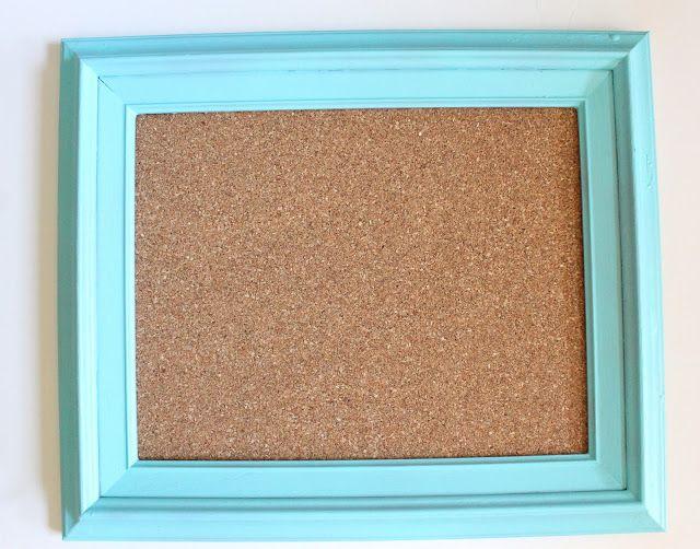 Reclaimed Frame Cork Board Tutorial