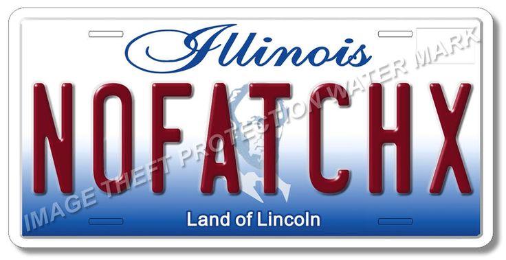 Sex Drive Movie NO FAT CHX Illinois Prop Replica Auto Vanity License Plate Tag