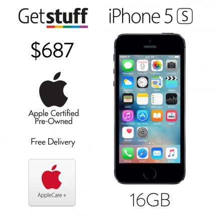 16GB Space Gray Apple Certified Pre-Owned iPhone 5S including one-year Apple warranty.New packaging and genuine accessories included.Free shipping.iOS8 – easily upgradable to iOS9Colour: space grayFour-Inch retina displayEight megapixel iSight cameraUltrafast LTE wirelessA7 dua