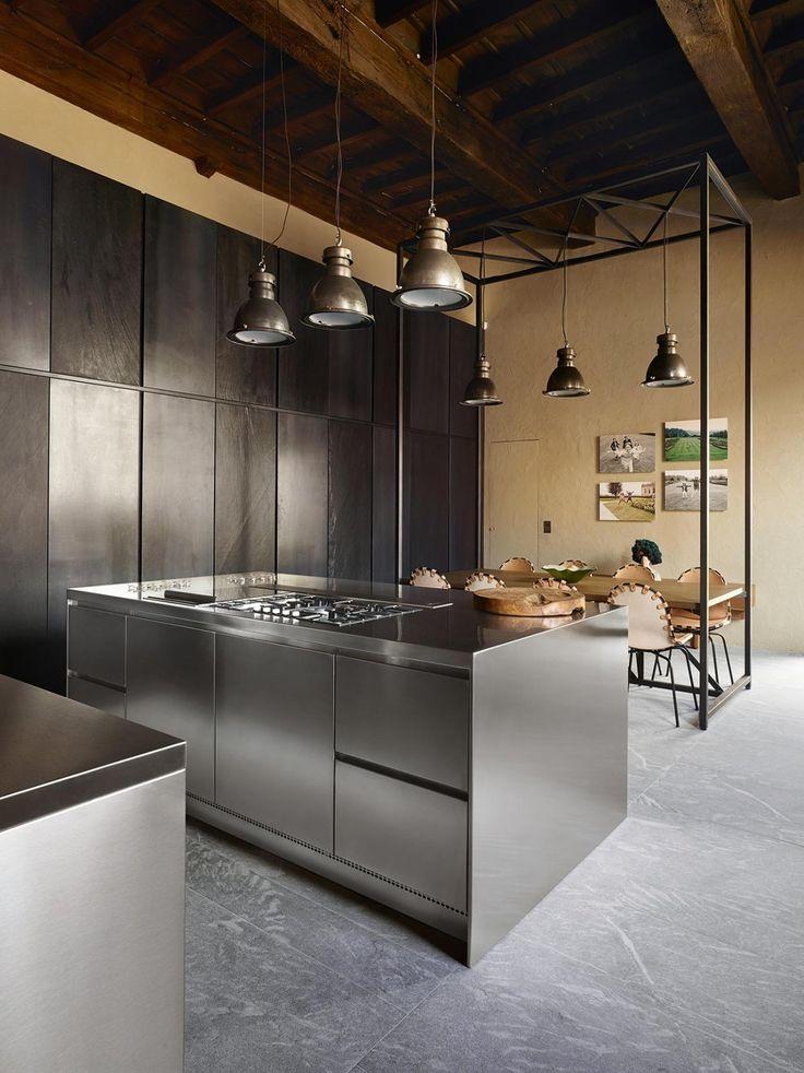 17 migliori idee su mattoni a vista su pinterest interni di mattone decorazione industriale e - Cucina acciaio e legno ...