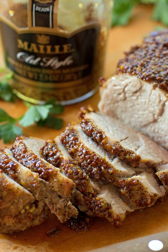 Brown Sugar and Dijon Glazed Pork Tenderloin | lifemadesimplebakes.com