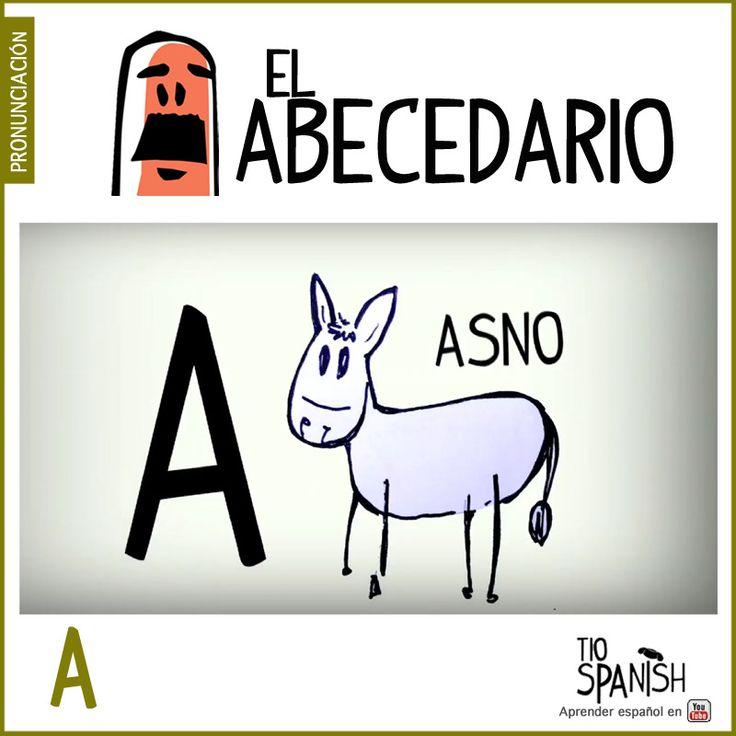 Letra A (a).Aprender el abecedario español, alfabeto. ** Letter A (a). Learning the Spanish alphabet