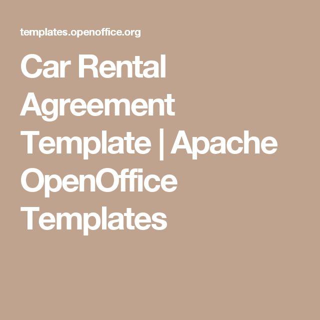 Car Rental Agreement Template   Apache OpenOffice Templates