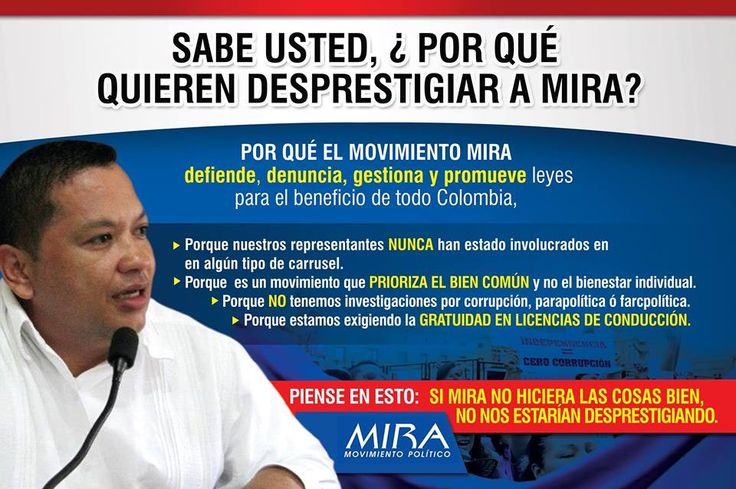 MIRA- Movimiento Politico., https://www.facebook.com/photo.php?fbid=1828751924016857&set=a.1402407869984600.1073741828.100006462005917&type=1&theater