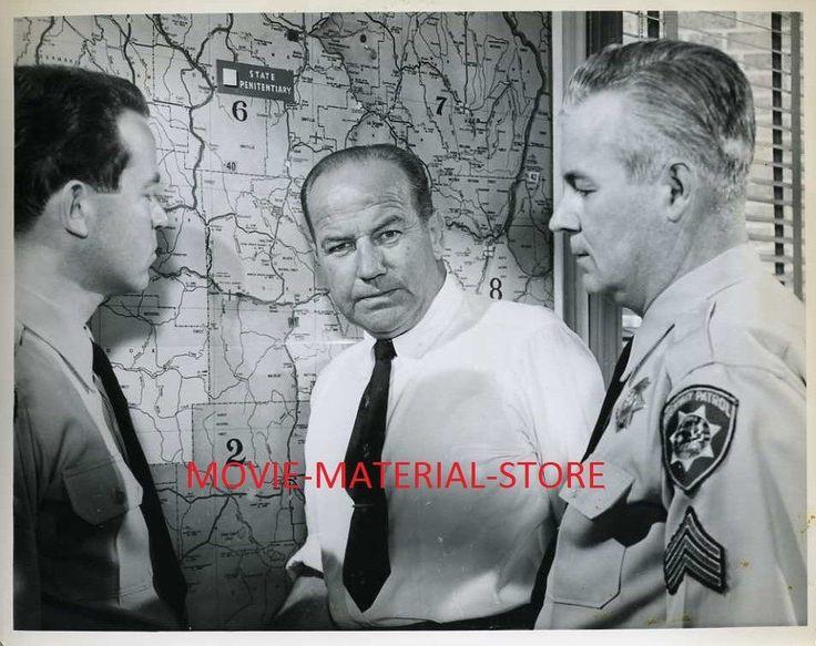 "Broderick Crawford Highway Patrol Original 8x10"" Photo #K4894"