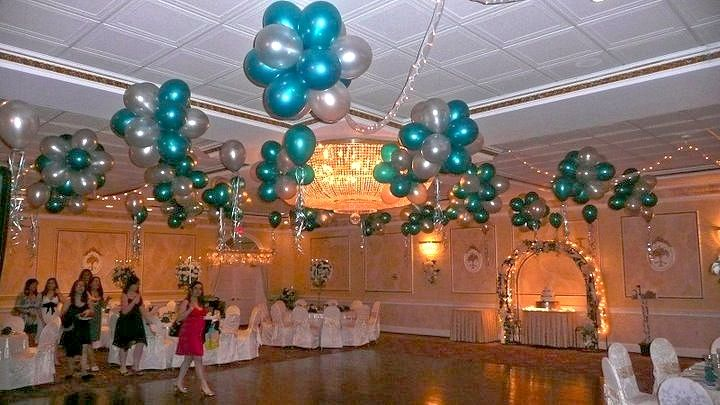 Turquoise and fuschia wedding theme party rental miami for Balloon decoration ideas for sweet 16