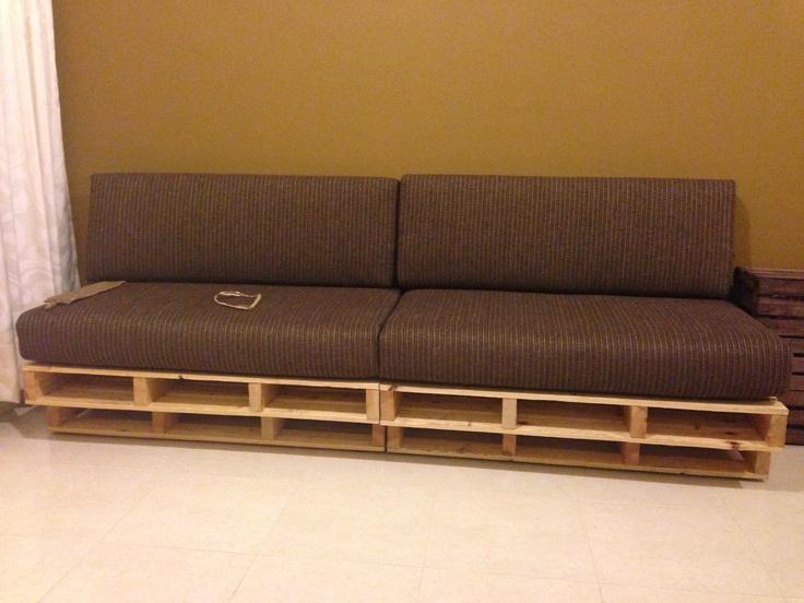 Mi sof hecha con tarimas o palets pallets pinterest - Sofa con palet ...