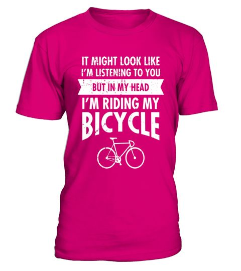 "# In My Head I'm Riding My Bike Cool Cyclist Slogan T-Shirt .  Special Offer, not available in shops      Comes in a variety of styles and colours      Buy yours now before it is too late!      Secured payment via Visa / Mastercard / Amex / PayPal      How to place an order            Choose the model from the drop-down menu      Click on ""Buy it now""      Choose the size and the quantity      Add your delivery address and bank details      And that's it!      Tags: Cool, unique bike quote…"