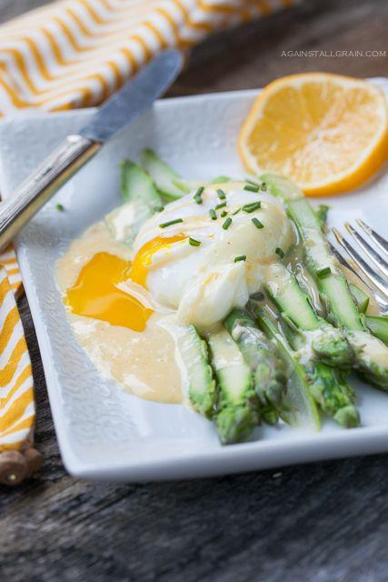 Asparagus Benedict - Against All Grain #paleo #eggs
