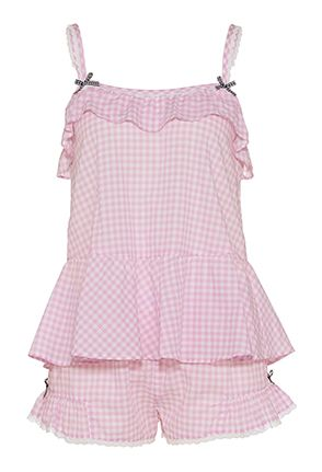 Pink Gingham Shortie Set - Peter Alexander