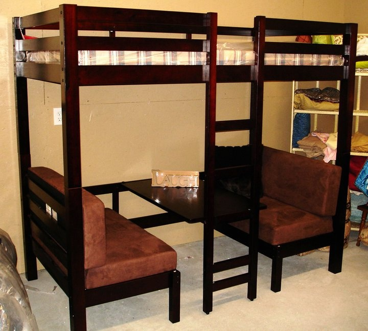 Loft Bed With Table Booth Beneath DIY Ideas Pinterest