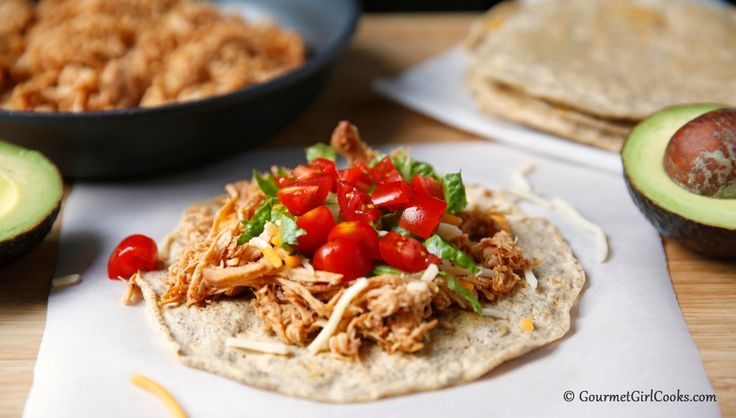 Gourmet Girl Cooks: Soft Chicken Tacos Made with Grain Free Soft Tacos (tag: soft taco shell recipe, mexican, tortilla)