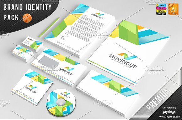 3D Arrows Marketing Corporate ID by joyologo on @creativemarket