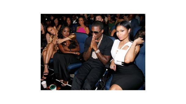 "#CoupleCam: Celebs Show Love on Instagram | Nicki Mianj @nickiminaj You might have caught this pic from the 2015 BET Awards floating around Instagram with the caption ""Meek still can't believe he got the number"". The truth is the rapper is blessed to have Nicki by his side."