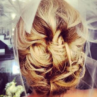 Gorgeous bride! Hair by Julie Meacham