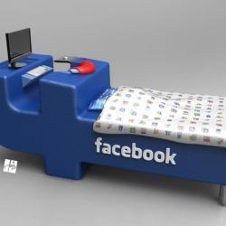 """Letto per appassionati di Facebook: dormire su """"logo"""" social network [FOTO]"""