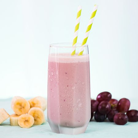 Grape Banana Smoothie recipe- Made today except I used regular yogurt (banana yogurt actually) - EC