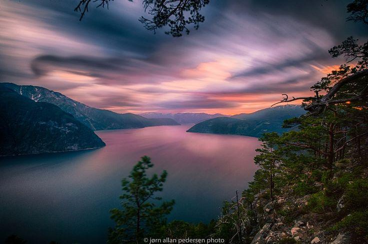 ***Sunset over Sognefjorden (Norway) by Jørn Allan Pedersen / 500px