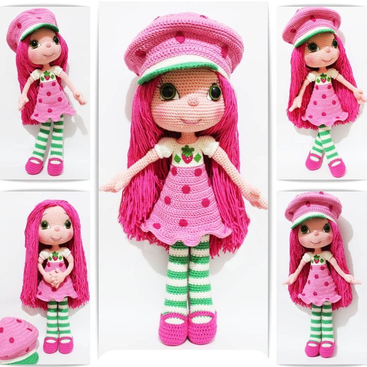 Strawberry Girl Costume Doll