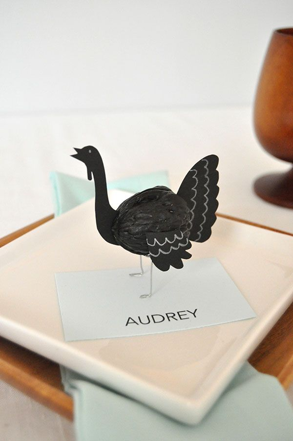 Thanksgiving table – they're super quick to make. You could even use them as cake toppers...