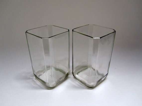 Square Tumblers from recycled Jack Daniels bottles :)