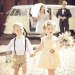 """This ring boy and flower girl is so cute.  I LOVE that vintage book ring """"pillow"""" idea!"""