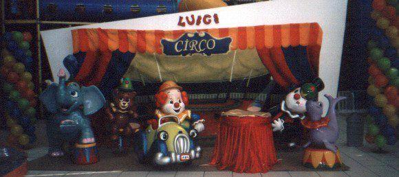 Cenário tema Circo em fibra de vidro.
