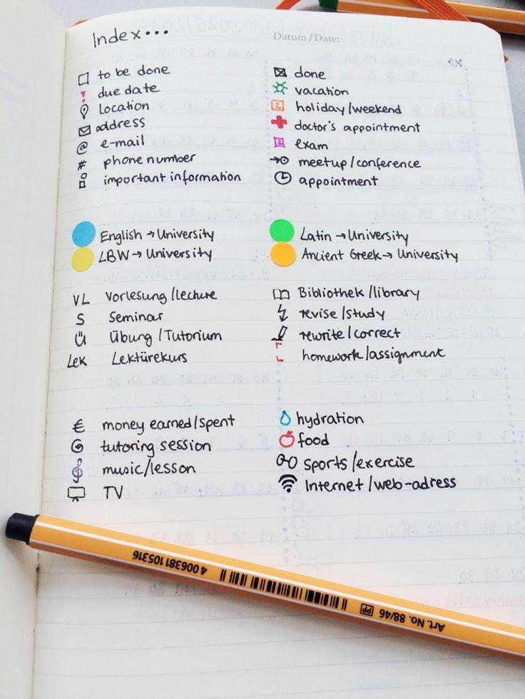A study inspiration blog! Bullet Journal® Key Idea!
