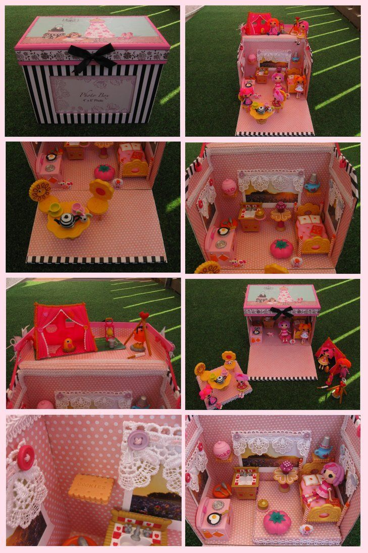 Marvelous Lalaloopsy House By On DeviantART   How Fun Would This Be To Make And Such  An Awesome Idea For Making A House For The Minis That We Could Pack Up And  Take ...